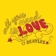 Camiseta Feminina The Beatles All You Need Is Love