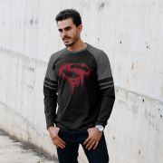 Blusa Manga Longa Masculina Superman Bleeding
