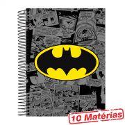 Caderno 10 Matérias Batman Logo