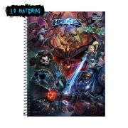Caderno Heroes Of The Storm Logo 10 Matérias