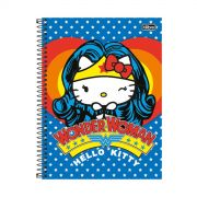 Caderno Hello Kitty DC Comics Wonder Woman 1 Matéria