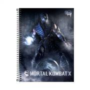 Caderno Mortal Kombat X Sub-Zero 1 Mat�ria