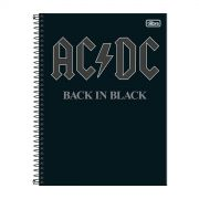 Caderno AC/DC Back in Black 1 Matéria