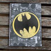 Caderno Batman Logo Retrô 1 Matéria