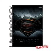 Caderno Batman VS Superman Logo 10 Matérias