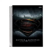 Caderno Batman VS Superman Logo 1 Matéria