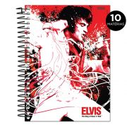 Caderno Elvis Presley The King Of Rock n´ Roll Red 10 Matérias