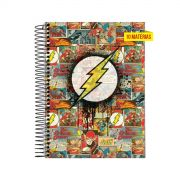 Caderno Flash Logo Quadrinhos 10 Matérias