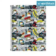 Caderno Hello Kitty DC Comics HQ 10 Matérias