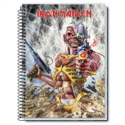 Caderno Iron Maiden Somewhere In Time 1 Mat�ria
