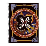 Caderno Kiss Rock And Roll Over 1 Mat�ria