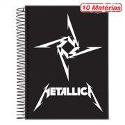 Caderno Metallica Logo 10 Matérias