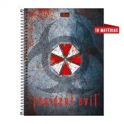 Caderno Resident Evil Biohazard 10 Matérias