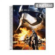 Caderno Star Wars Primeira Ordem 10 Mat�rias