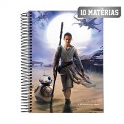 Caderno Star Wars Rey BB8 10 Matérias