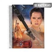 Caderno Star Wars Rey Face 10 Mat�rias