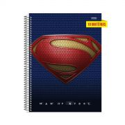 Caderno Superman Man of Steel Logo 10 Matérias