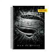 Caderno Superman Man of Steel Melting Logo 10 Matérias
