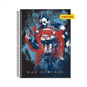 Caderno Superman Man of Steel Power 10 Matérias