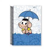 Caderno Turma da Mônica Cascão Chuva Não 1 Matéria