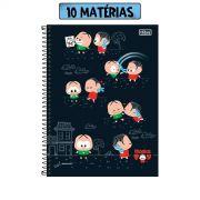 Caderno Turma da Mônica Toy Mônica e Cebolinha 10 Matérias