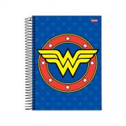 Caderno Wonder Woman Blue Logo 1 Matéria