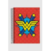 Caderno Wonder Woman Red Logo 1 Matéria