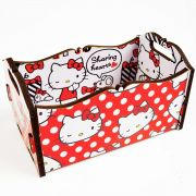 Caixote de Mesa Hello Kitty Red Bow