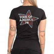 Camiseta Feminina The Rolling Stones Flag