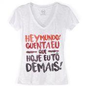 Camiseta Devorê Feminina Thiaguinho Guenta Eu