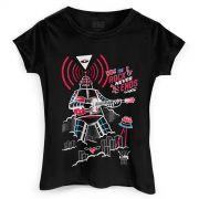 Camiseta Feminina 89FM A R�dio Rock 30 Anos Rob�