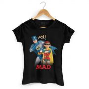Camiseta Feminina Batman e MAD