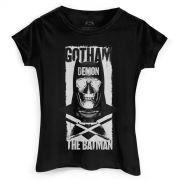 Camiseta Feminina Batman VS Superman Gotham Demon
