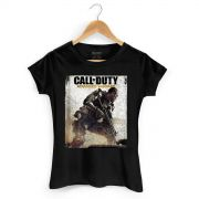 Camiseta Feminina Call of Duty Soldier Black
