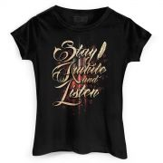 Camiseta Feminina Diablo III Stay Awhile and Listen
