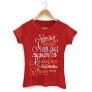 Camiseta Feminina F�bio Junior Nem por Voc�, Nem por Ningu�m
