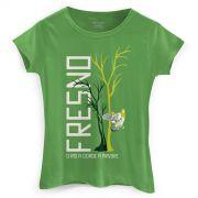 Camiseta Feminina Fresno O Rio A Cidade A Árvore