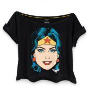 Camiseta Feminina Gola Canoa Wonder Woman Pop Culture
