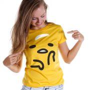Camiseta Feminina Gudetama Face