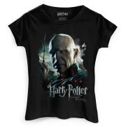 Camiseta Feminina Harry Potter Voldemort