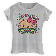 Camiseta Feminina Hello Kitty Magical Burguer