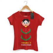 Camiseta Feminina Magali 50 Anos Food Over