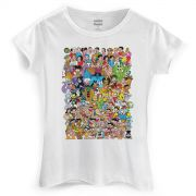 Camiseta Feminina Maurício de Sousa 80 Anos Colors