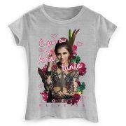 Camiseta Feminina Sofia Oliveira É Que Eu Te Amo Flowers