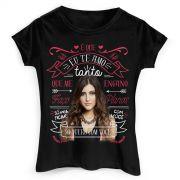 Camiseta Feminina Sofia Oliveira é Que eu Te Amo Tanto