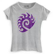 Camiseta Feminina Starcraft 2 Zerg Vintage