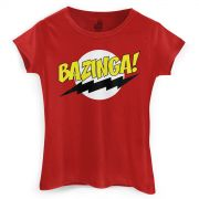 Camiseta Feminina The Big Bang Theory Bazinga! Clássica