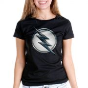 Camiseta Feminina The Flash Série Logo Zoom