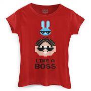Camiseta Feminina Turma da Mônica Like a Boss