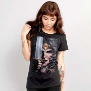 Camiseta Feminina Wonder Woman Face Art